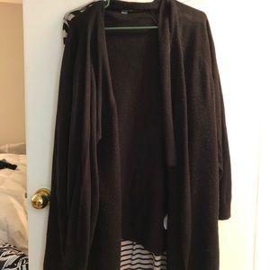 Plus Size Black Cardigan